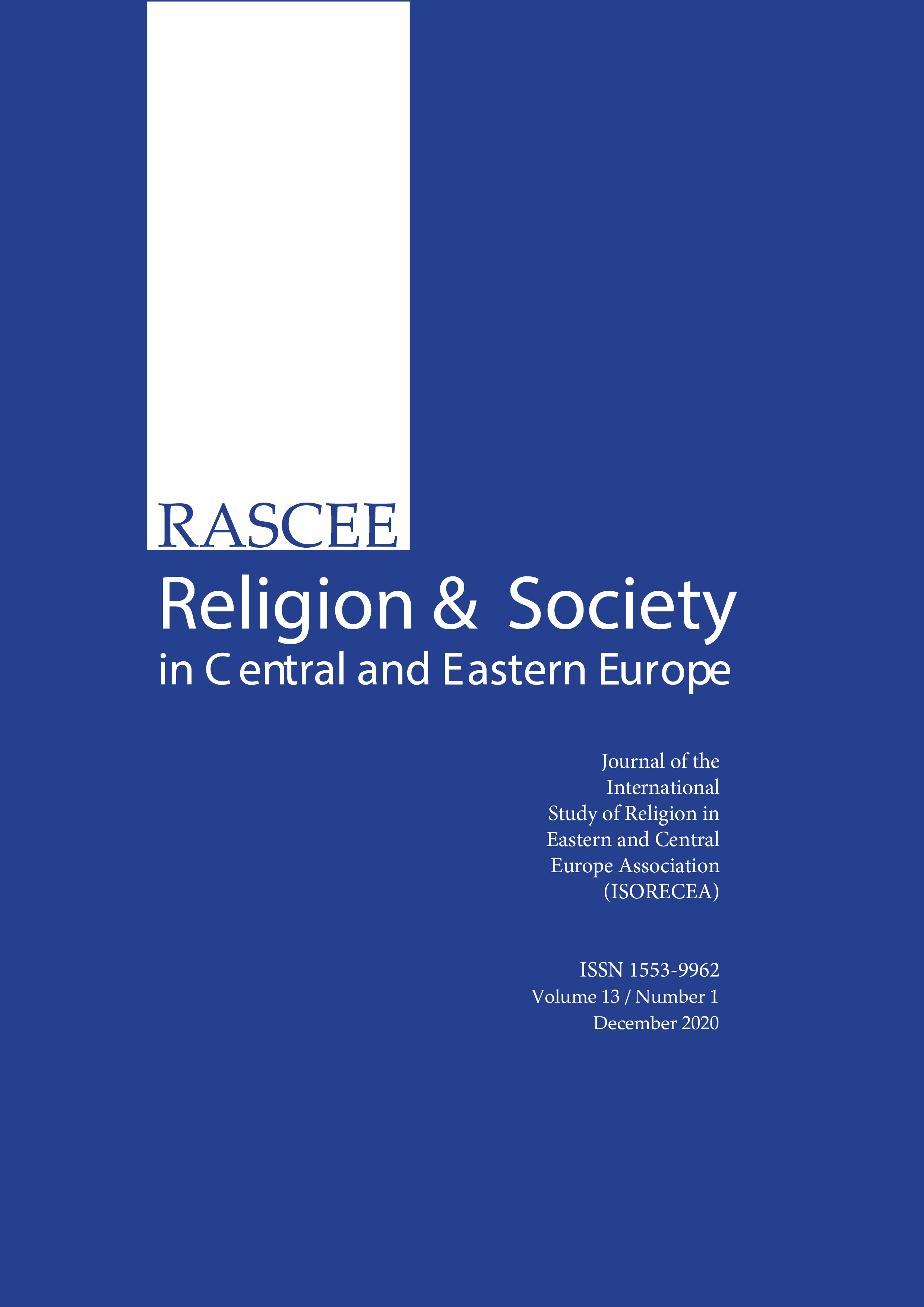 View Vol. 13 No. 1 (2020): Religion and Society in Central and Eastern Europe